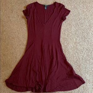 Maroon flow dress
